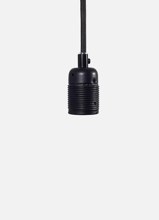 Frama – E27 Pendant – black cord/mat black