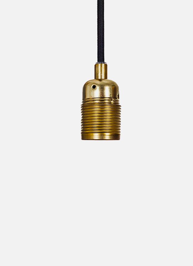 Frama – E27 Pendant – black cord/brass