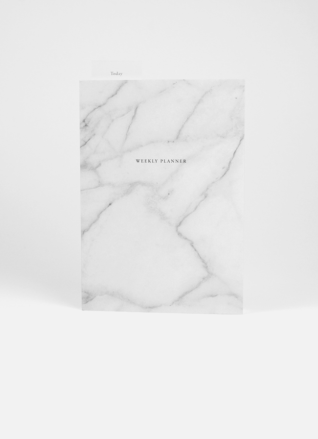 Studio of Basic Design – Weekly Planner – A5 – Marble