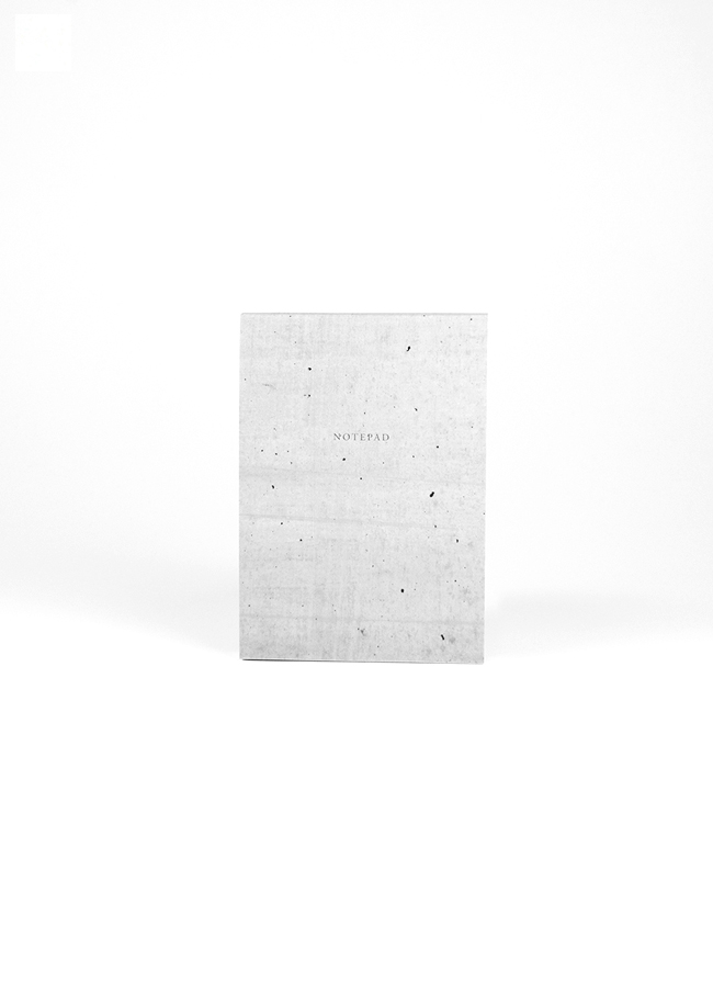 Studio of Basic Design – Notepad A6 100 sheets – Concrete