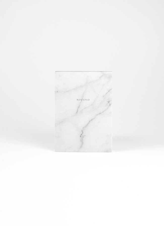 Studio of Basic Design – Notepad A6 100 sheets – White Marble