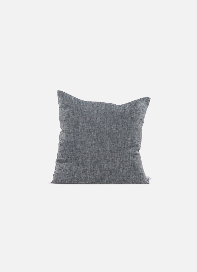 By Mölle - Linen cushion - charcoal - 50x50cm