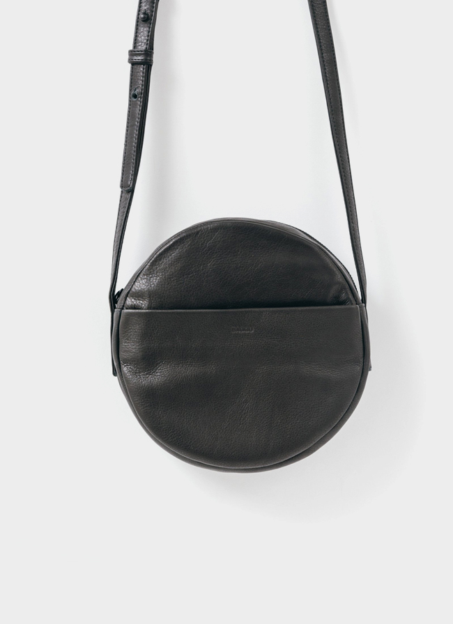 Baggu Leather Circle Purse - Black