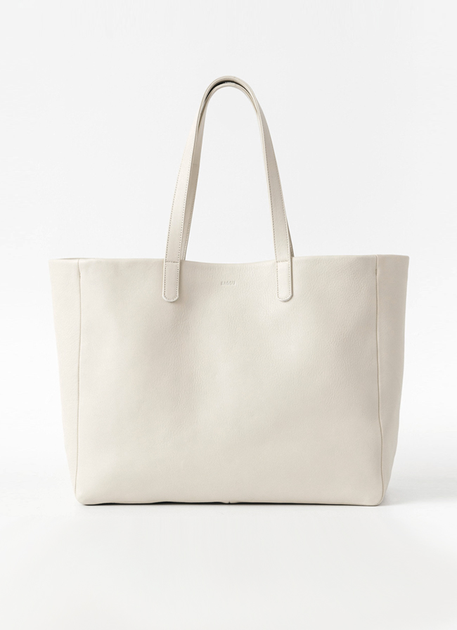 Baggu Leather Oversize Tote - Stone