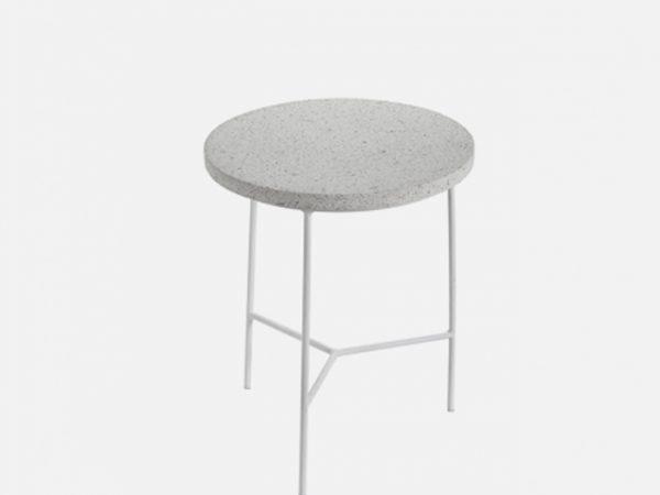 Antonino Sciortino - Terrazzo Side Table - white