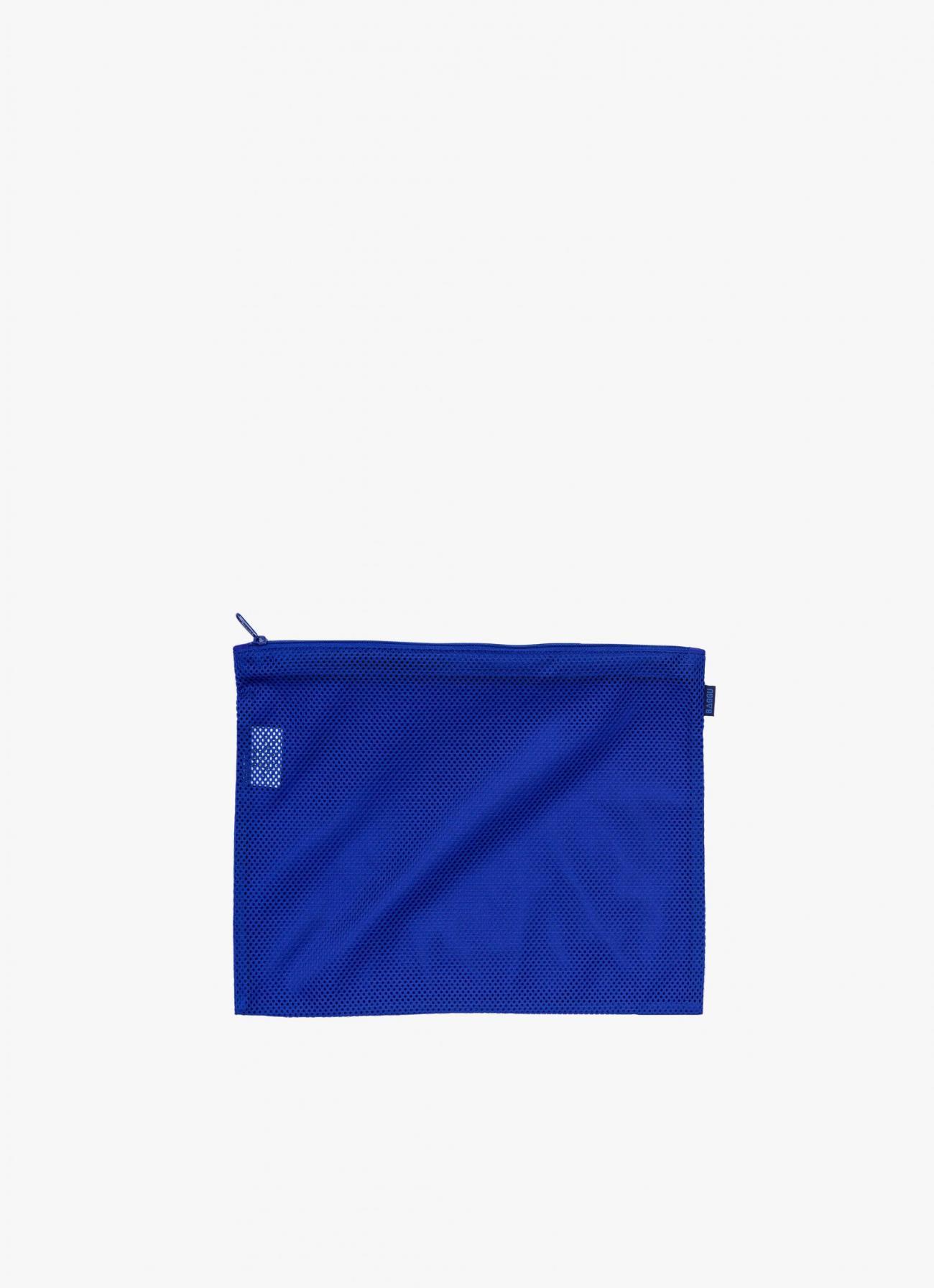 Baggu Flat Zip Mesh Bag - Cobalt