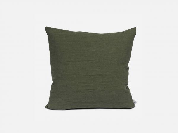 By Mölle - Linen cushion - moss green - 50x50cm